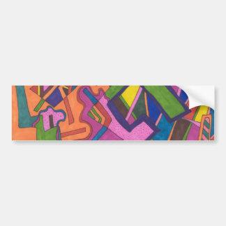 """Geometric"" Abstract Bumper Sticker"