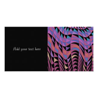 Geometric Abstract Design Photo Card Template