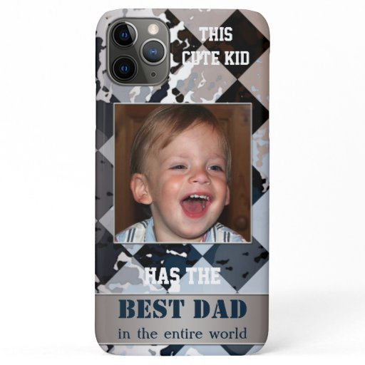 Geometric Abstract Father Photo Phone Case