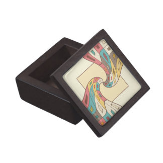 Geometric abstract jewelry box