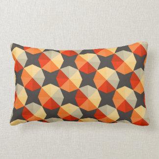"""Geometric Abstract  Lumbar Pillow 13"""" x 21"""""""