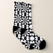 Geometric abstract pattern socks