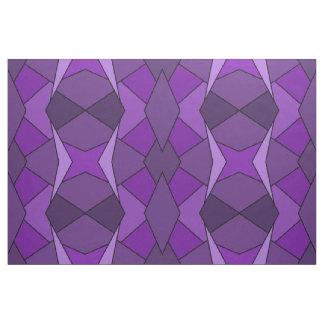 Geometric Abstract Purple Polygons Fabric