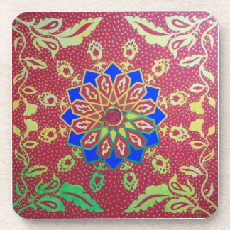 Geometric Abstract Red Coasters Michelle Andrews
