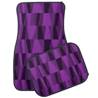 Geometric Abstract Triangles | purple Car Mat
