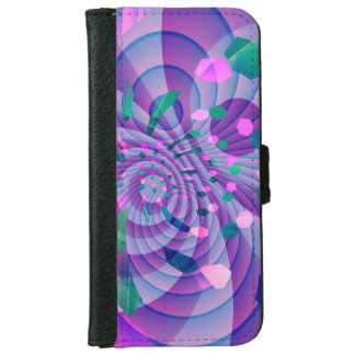 Geometric Abstract Wallet Phone Case For iPhone 6/6s