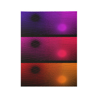 Geometric abstract. wood poster