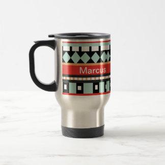 Geometric - Adobe, Turquoise & Brown Travel Mug