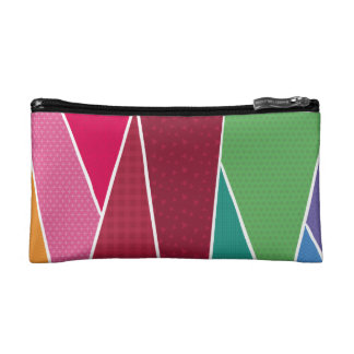 Geometric and colourful cosmetic bag