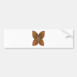 Geometric Angel Butterfly Bumper Sticker