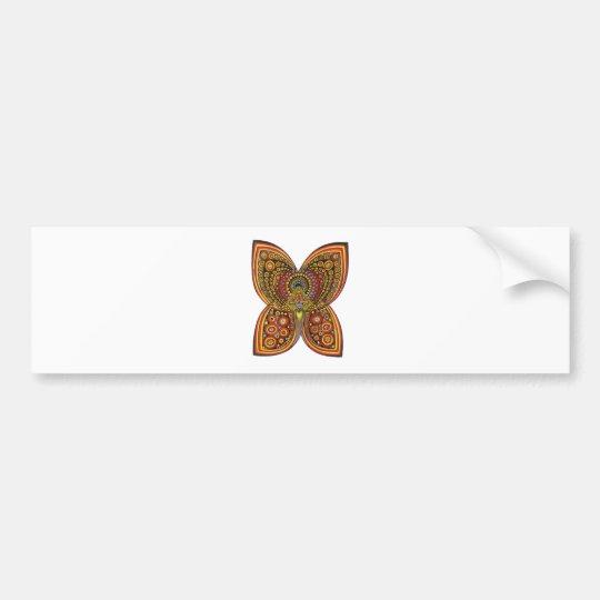 Geometric Angel Butterfly Bumper Sticker