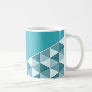 Geometric Aqua & Black Color Block Coffee Mug