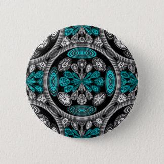 Geometric arabesque pinback button