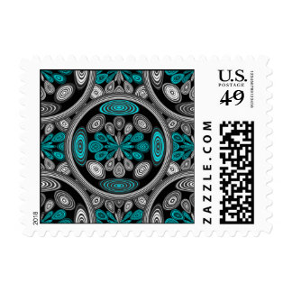 Geometric arabesque postage