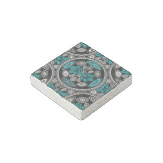 Geometric arabesque stone magnet