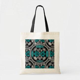 Geometric arabesque tote bag
