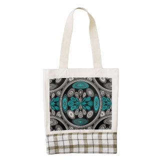 Geometric arabesque zazzle HEART tote bag