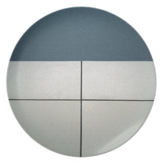 Geometric Architecture Melamine Plate