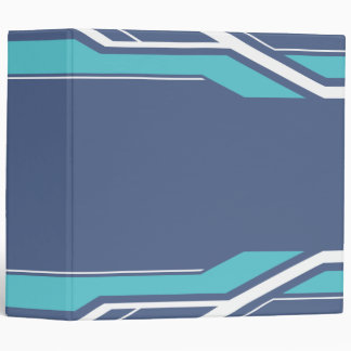 Geometric Art Blue and Purple Binder