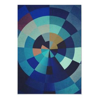 Geometric Art | Blue Circles and Arcs Card