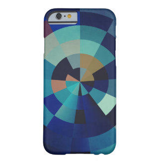 Geometric Art | Blue Circles, Arcs, and Triangles Barely There iPhone 6 Case