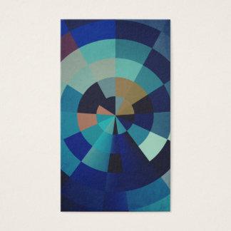 Geometric Art | Blue Circles, Arcs, and Triangles Business Card
