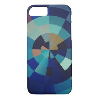 Geometric Art | Blue Circles, Arcs, and Triangles iPhone 7 Case