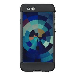 Geometric Art | Blue Circles, Arcs, and Triangles LifeProof® NÜÜD® iPhone 6 Case
