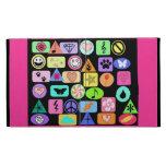Geometric Art Clips Collage iPad Case
