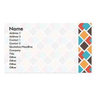 Geometric art deco business card