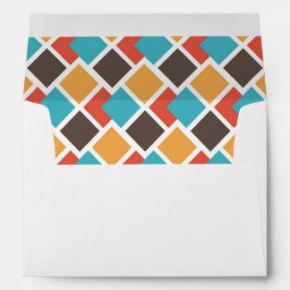 Geometric art deco envelope