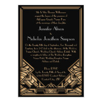 Geometric Art Deco Gatsby Style Wedding Invites