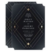 Geometric Art Deco Great Gatsby Wedding Invitation