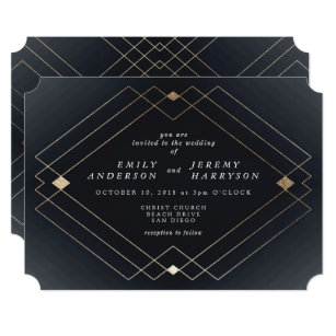 Great Gatsby Wedding Invitations Zazzle