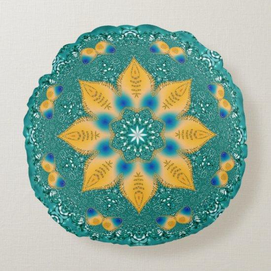 Geometric Art | Hypnotic Energy Round Pillow