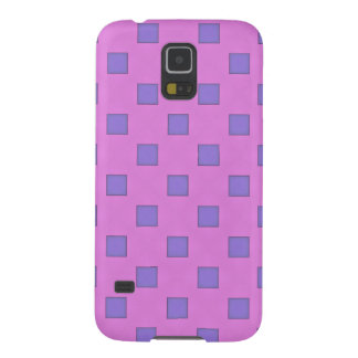 Geometric Art Lavender Lilac Squares On Rose Pink Galaxy S5 Case