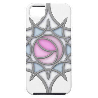 Geometric Art Nouveau Rose within a Snowflake iPhone 5 Case