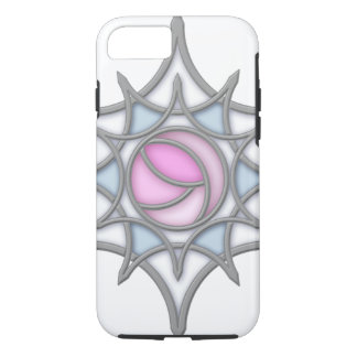 Geometric Art Nouveau Rose within a Snowflake iPhone 8/7 Case