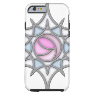 Geometric Art Nouveau Rose within a Snowflake iPhone 6 Case