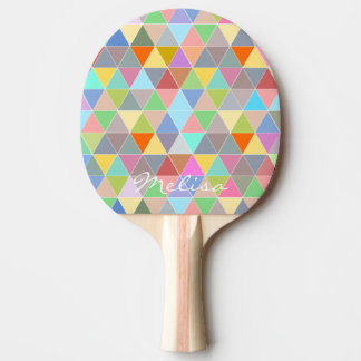 Geometric art ping pong paddle for table tennis