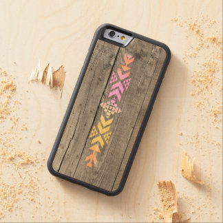 Geometric aztec wood pattern carved® maple iPhone 6 bumper case