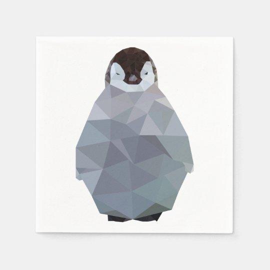 Geometric Baby Penguin Print Napkin Zazzlecom