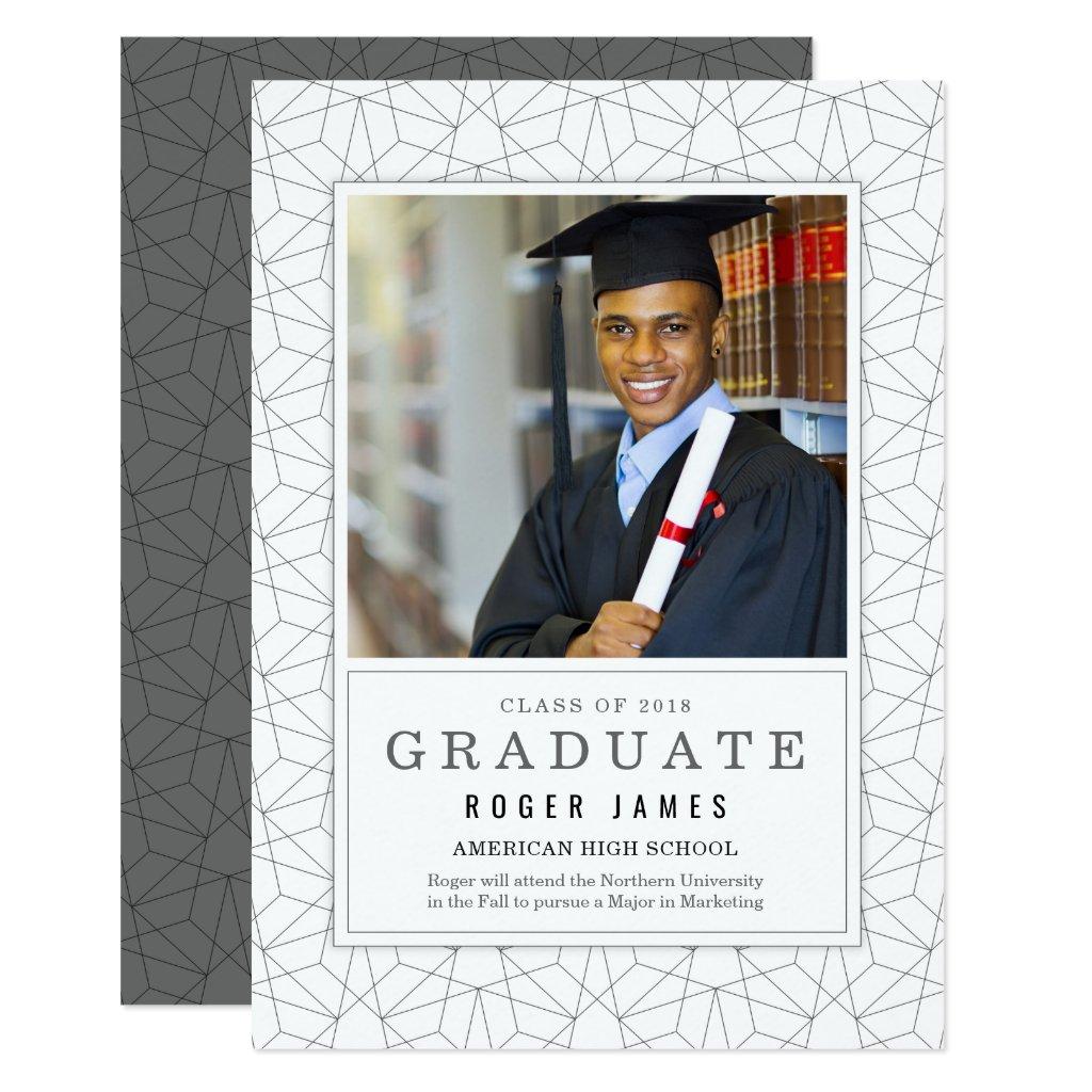 Geometric Background Graduation Announcemet