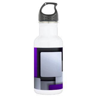 geometric background water bottle