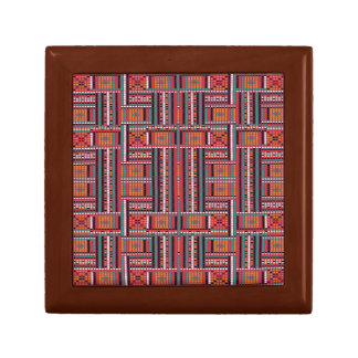 Geometric Bead Effect Pattern Ethnic Tribal Look Keepsake Box