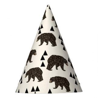 Geometric Bear Cream Geo Woodland / Andrea Lauren Party Hat