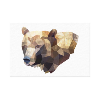 Geometric Bear Illustration Canvas