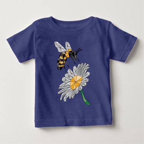 Geometric Bee & Flower Baby T-Shirt