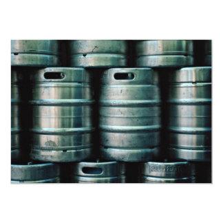 Geometric beer barrels, Czech Republic 5x7 Paper Invitation Card