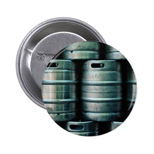 Geometric beer barrels, Czech Republic Pinback Button